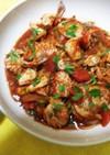 貝の旨味トマト酸味バジル香りパンと一緒に
