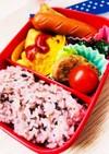 手作りミートオムレツと雑穀米のお弁当☆
