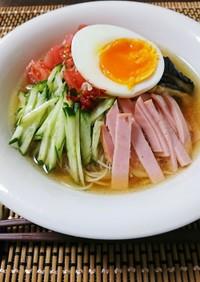 そうめんで簡単 韓国風冷麺