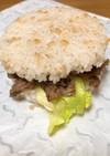 簡単焼肉とハンバーグライスバーガー