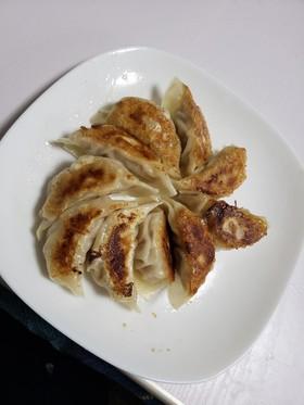 タケノコと白菜と豚ひき肉の焼き餃子
