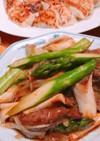 アスパラと牛肉のオイスター炒め