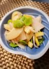 簡単 そら豆と筍と大根の明太子マリネ