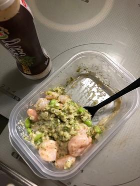 海老ブロッコリーライス剥き枝豆のサラダ
