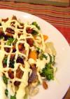 温野菜と甘露煮のコラボレーション