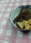 牛肉の切り落としと筍のすき焼き風煮