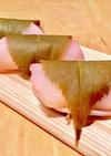 白玉粉で簡単 桜餅