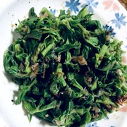 タラの芽ならぬ☆タラの葉のおひたしの写真