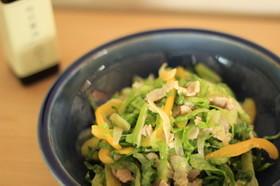 レタスと豚肉のおかずサラダ