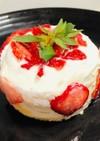 米粉を使った犬用ケーキ(牛乳・砂糖なし)