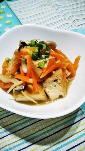 厚揚げ煮物☆野菜きのこあんかけ