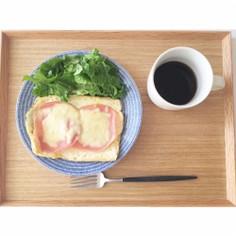 糖質オフ 厚揚げのハムチーズトースト