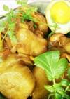 大和芋と鶏手羽元煮卵添え