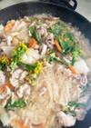 ブロッコリーと豚こま春雨のごま味噌炒め