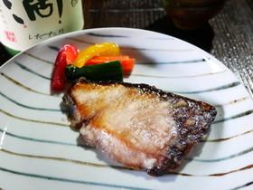ぶりの醴塩(れいしお)漬け焼き