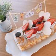 ハートの♡こいのぼりロールケーキの写真
