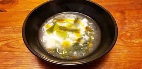 一人暮らしの卵白だけ玉子スープ