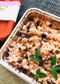 炊飯器で簡単・小豆(ささげ)七五三お赤飯