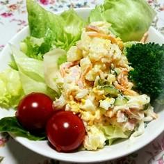 お店のママのカラフル簡単ポテトサラダ