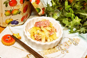 レンチン♪キャベツとベーコンの胡椒バターの写真