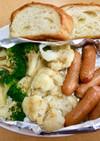 温野菜とソーセージのワンプレート