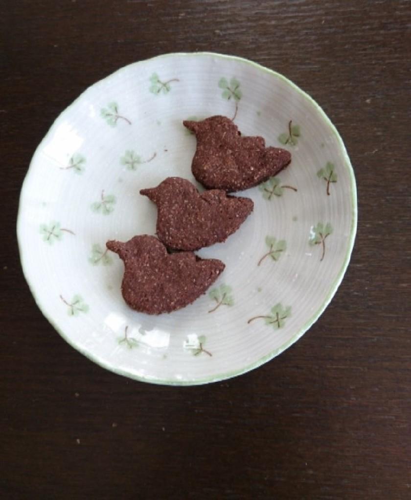ノンオイル!米ぬかココアクッキー