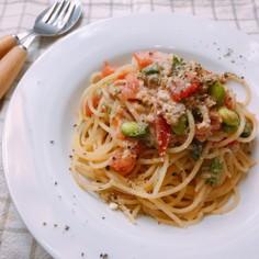 簡単★ツナとトマトの和えるだけパスタ