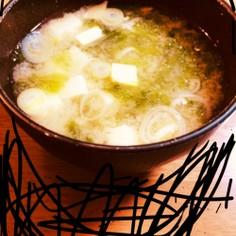 簡単!美味しい!アオサ味噌汁