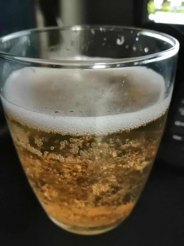 梅酒ゼリーの梅酒ソーダ