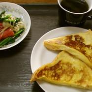 嫁の代わりにフレンチトースト簡単朝食