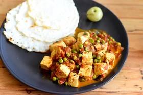 豆腐とグリーンピースのカレー