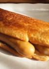 食パンの端でサクサクホットサンド
