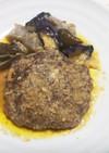 ごぼうの味噌煮込みハンバーグ