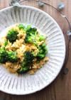 mブロッコリーと卵の中華マヨ炒め