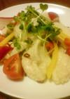 鶏むね肉の鮭ぽん酢サラダ