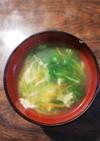 溶き卵とレタスで★☆野菜の鶏ガラスープ