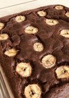 簡単ヘルシーおからでチョコバナナケーキ