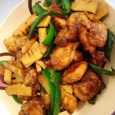 筍とピーマン鶏胸肉のチンジャオロース風