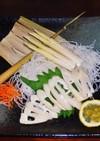 大名筍の食べ方 刺し身と酢味噌かけ