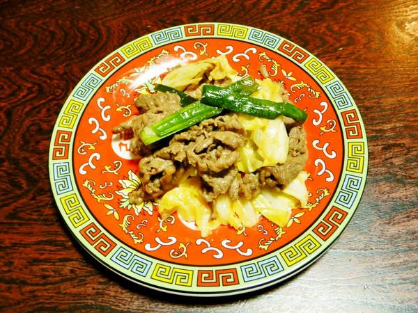 春キャベツと牛肉のホイコーロー・甘辛味