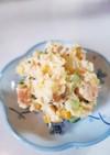 たくわんが効いてる⭐鮭で簡単ポテサラ