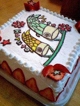 端午の節句★こいのぼりケーキ
