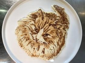 ねこのパンケーキアート
