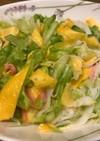 春キャベツの春色中華風サラダ