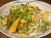 春キャベツの春色中華風サラダの写真