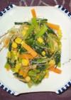 小松菜と春雨の炒め
