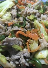 豚肉と野菜のピリ辛炒め お弁当に