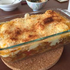簡単!サバ缶とキャベツのトマトグラタン