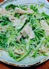 豚バラとゴマドレッシングで春雨サラダ