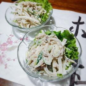 簡単!大根ときゅうりのサバ缶サラダ☆
